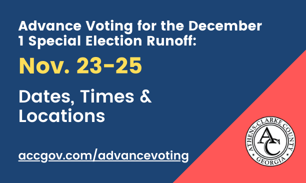Advance voting dates and locations