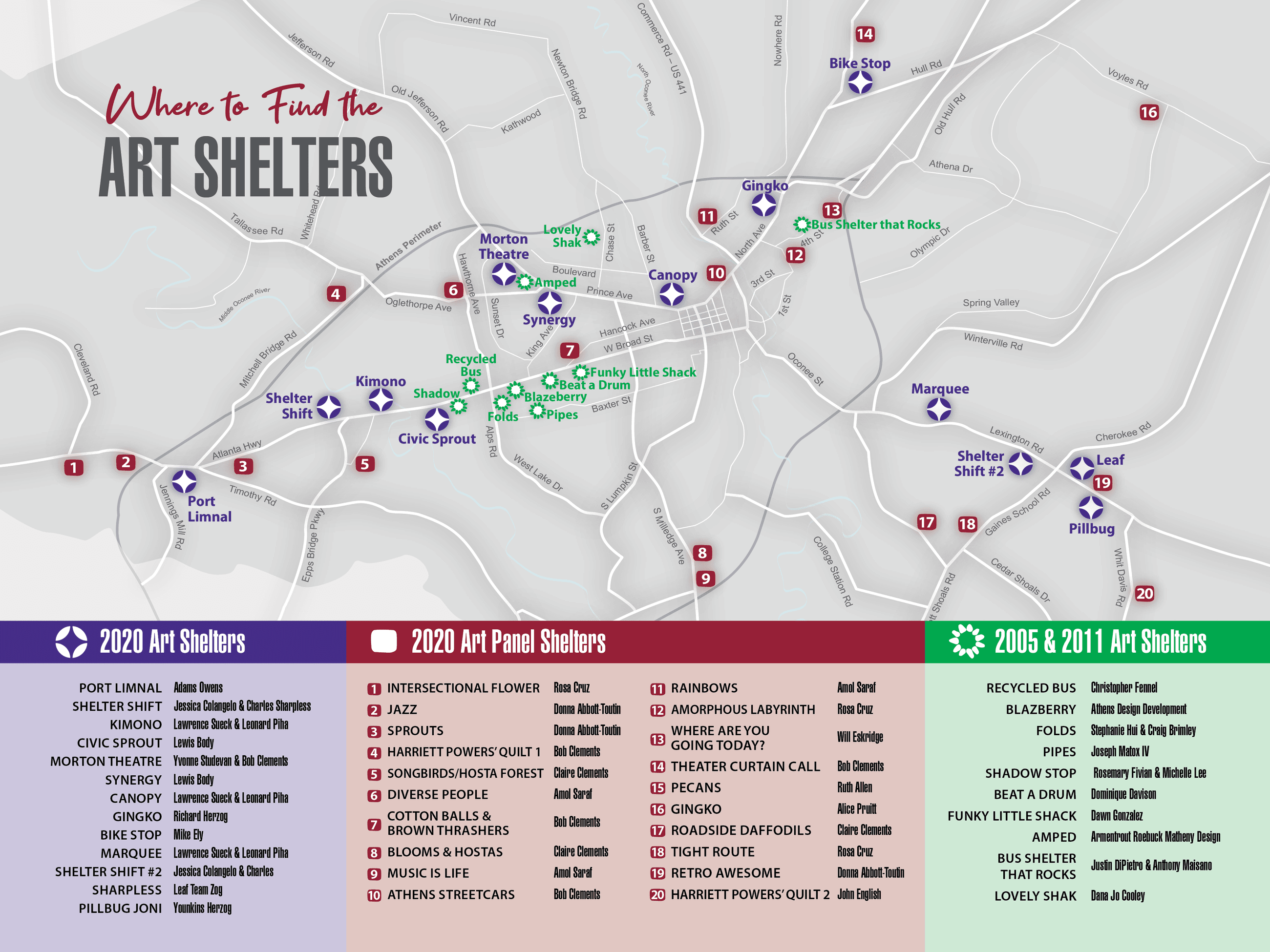 Art Shelter Map