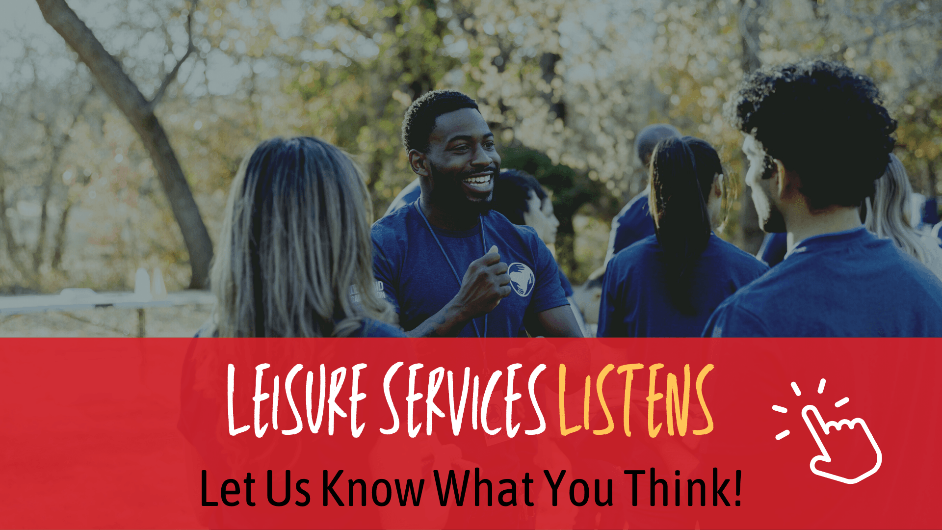 leisure services listens - graphic