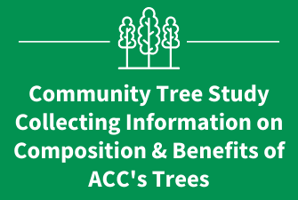 Community Tree Study Collecting Information on Composition & Benefits of ACC's Trees