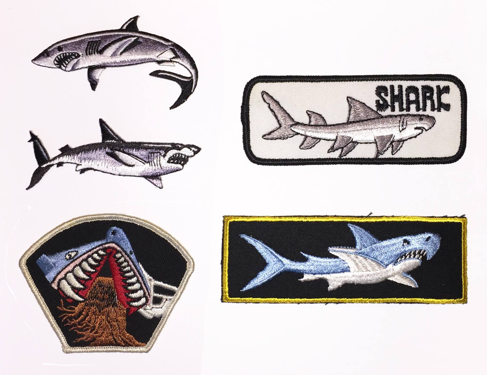 Shark patches from Todd Butler