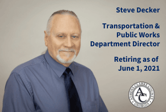 Steve Decker retiring as ACCGov Transportation and Public Works Director on June 1, 2021