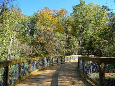 Photo of Bridge 3 on Lakeside Trail at Sandy Creek Park.