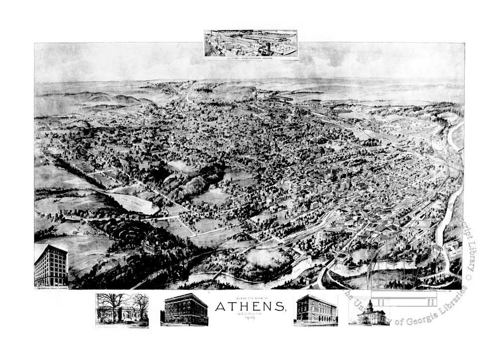 birds eye view of athens 1909