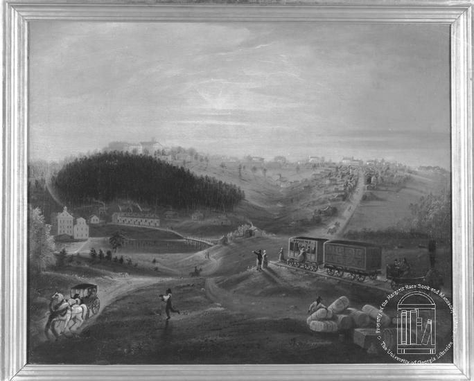 view of athens from Carrs Hill ca. 1840