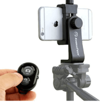 KobraTech Cell Phone Tripod Mount - UniMount 360 Universal iPhone tripod mount adapter with remote