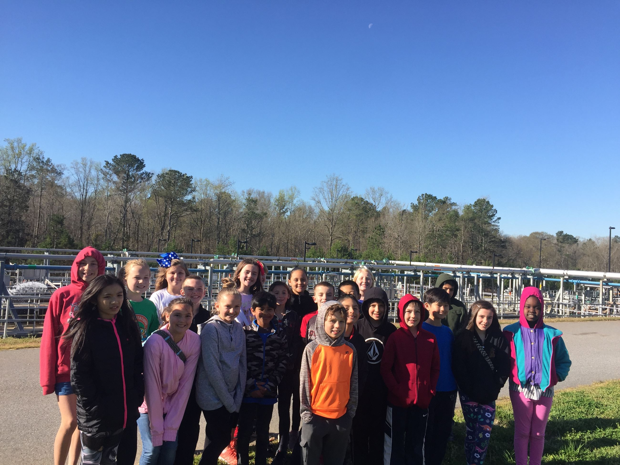 Elementary Students at Cedar Creek Water Reclamation Facility