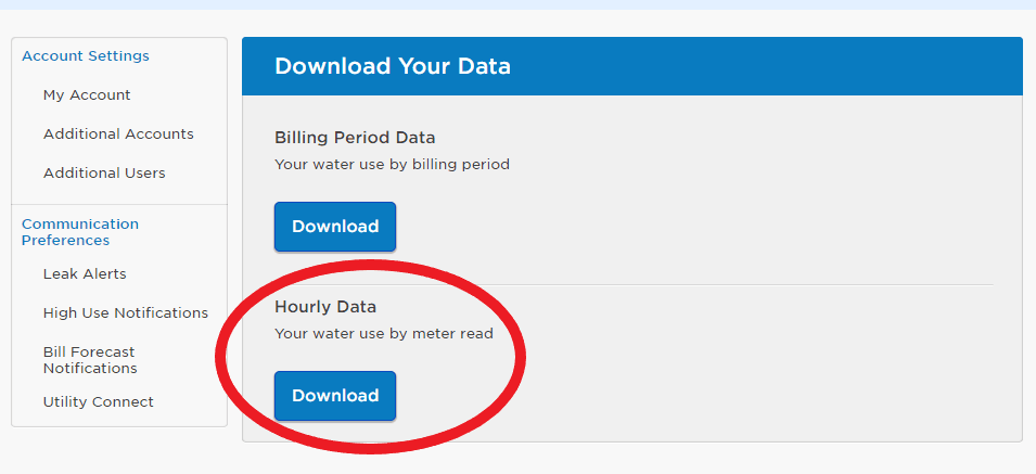 download data