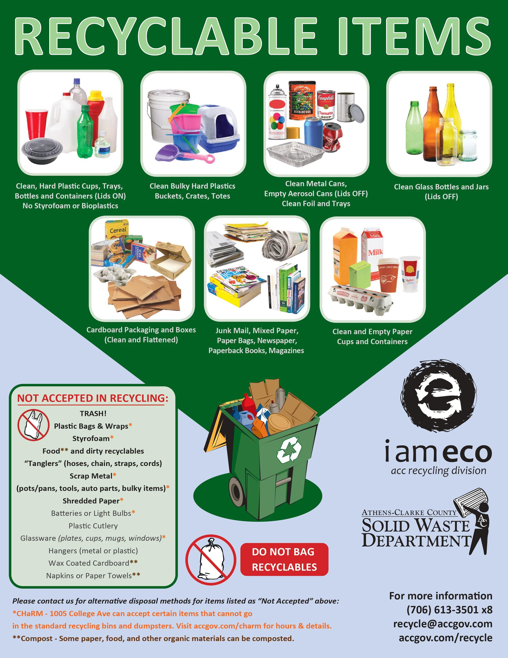 Recyclable Items Flyer front Opens in new window