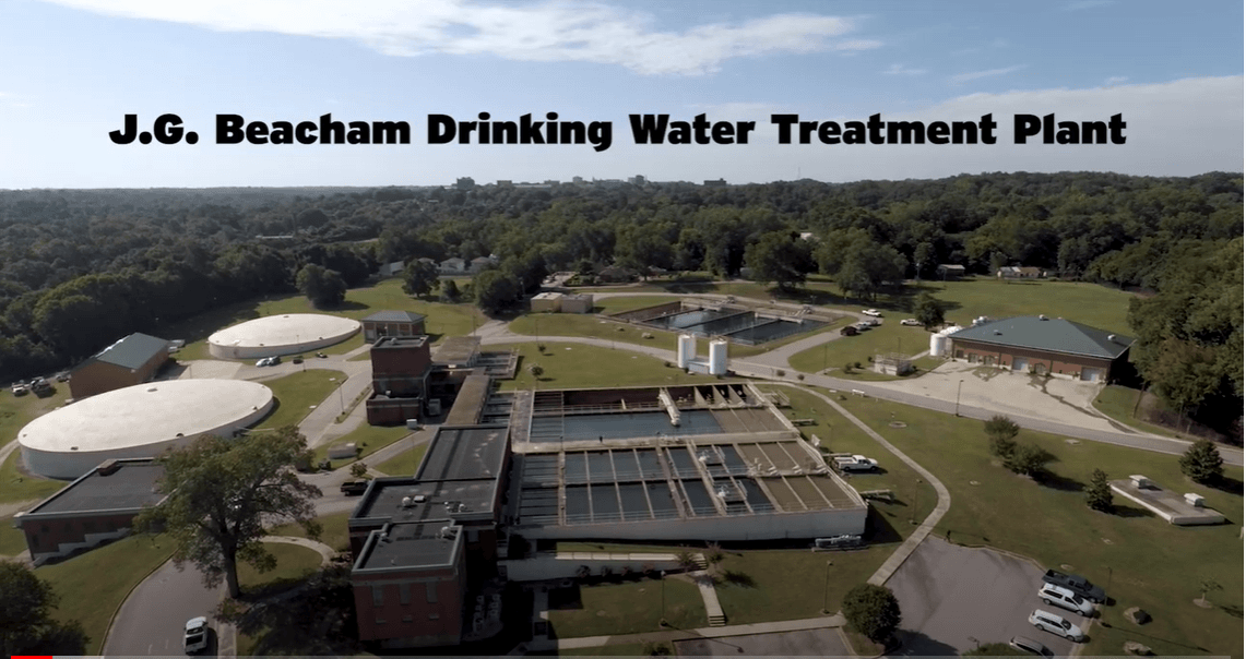Aerial Picture of Drinking Water Treatment Plant Opens in new window