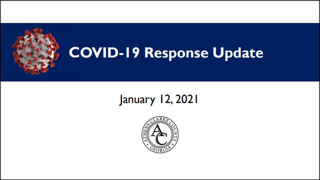 COVID Response Work Session Update - January 12, 2021