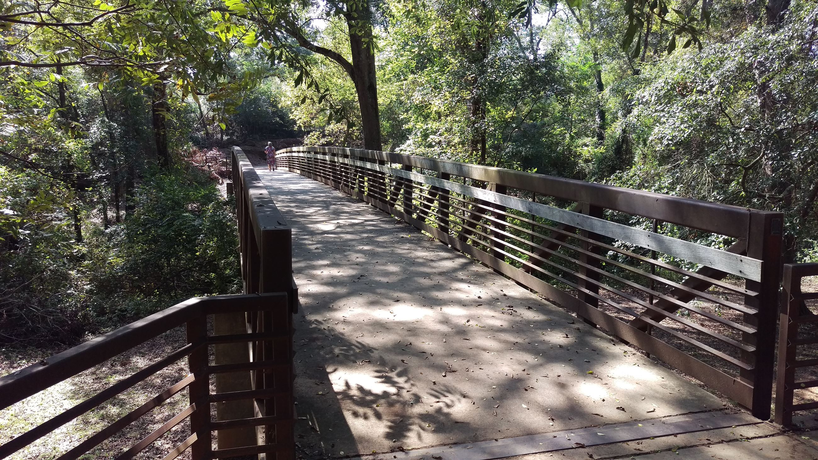 Photo of the Greenway Bridge crossing Trail Creek in Dudley Park.