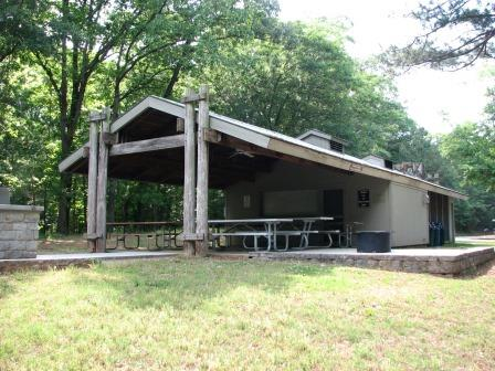 Photo of Picnic Shelter 4 at Sandy Creek Park.