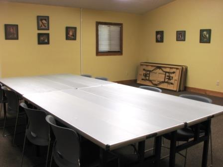 Photo of the Visitor's Center Conference Room configured for a meeting.