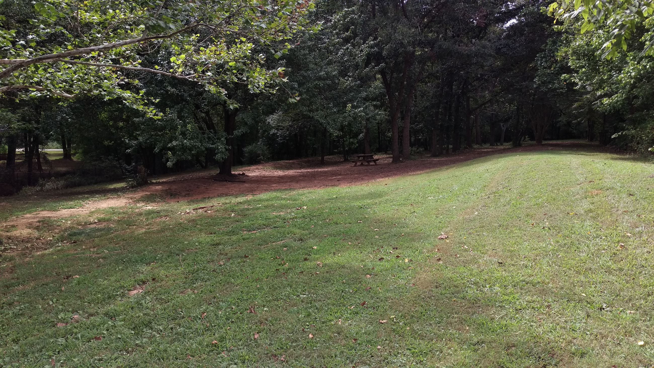 Photo of the Public Dog Park at Sandy Creek Park.