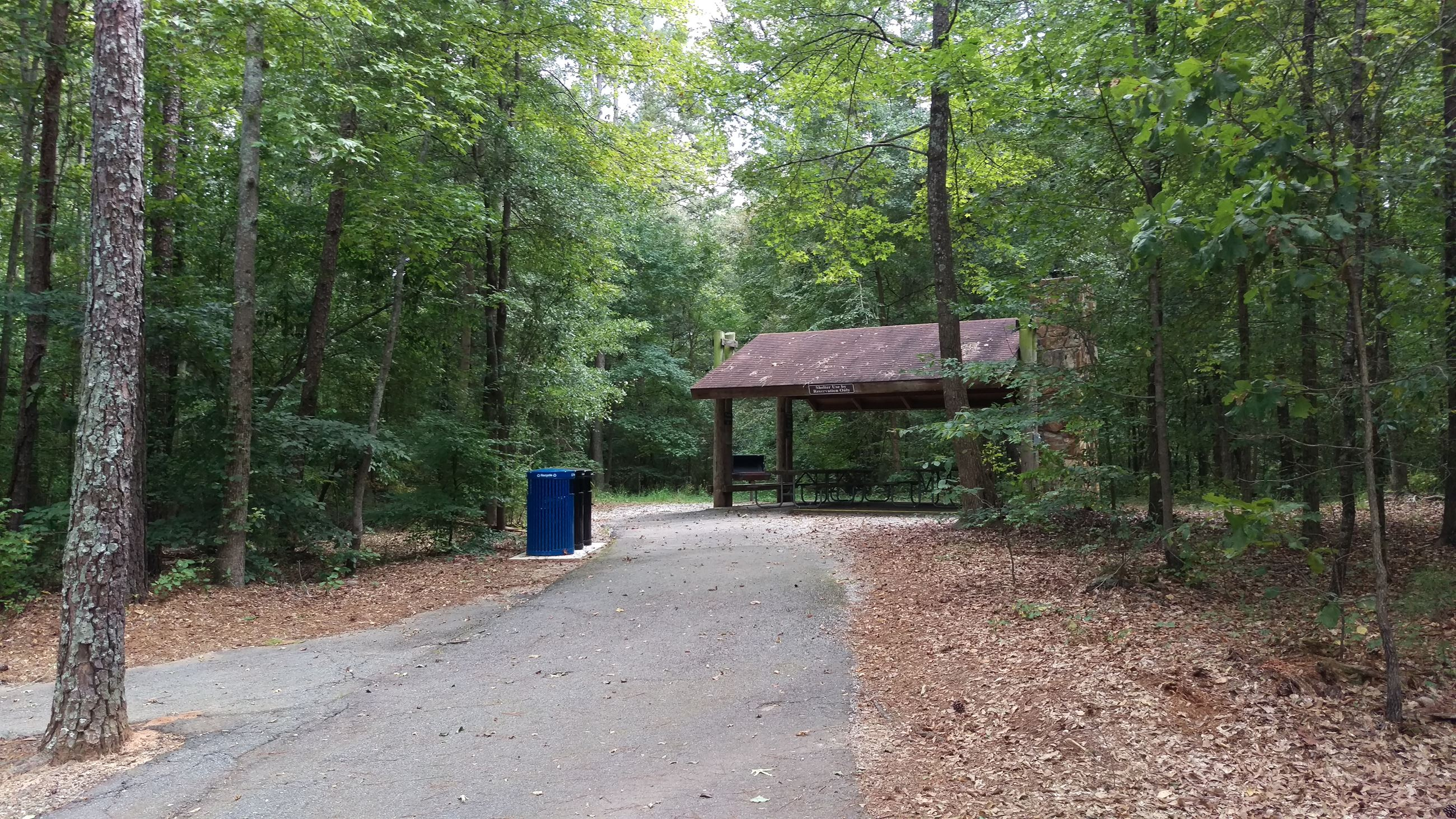 Photo of Picnic Shelter 1 at Sandy Creek Park.