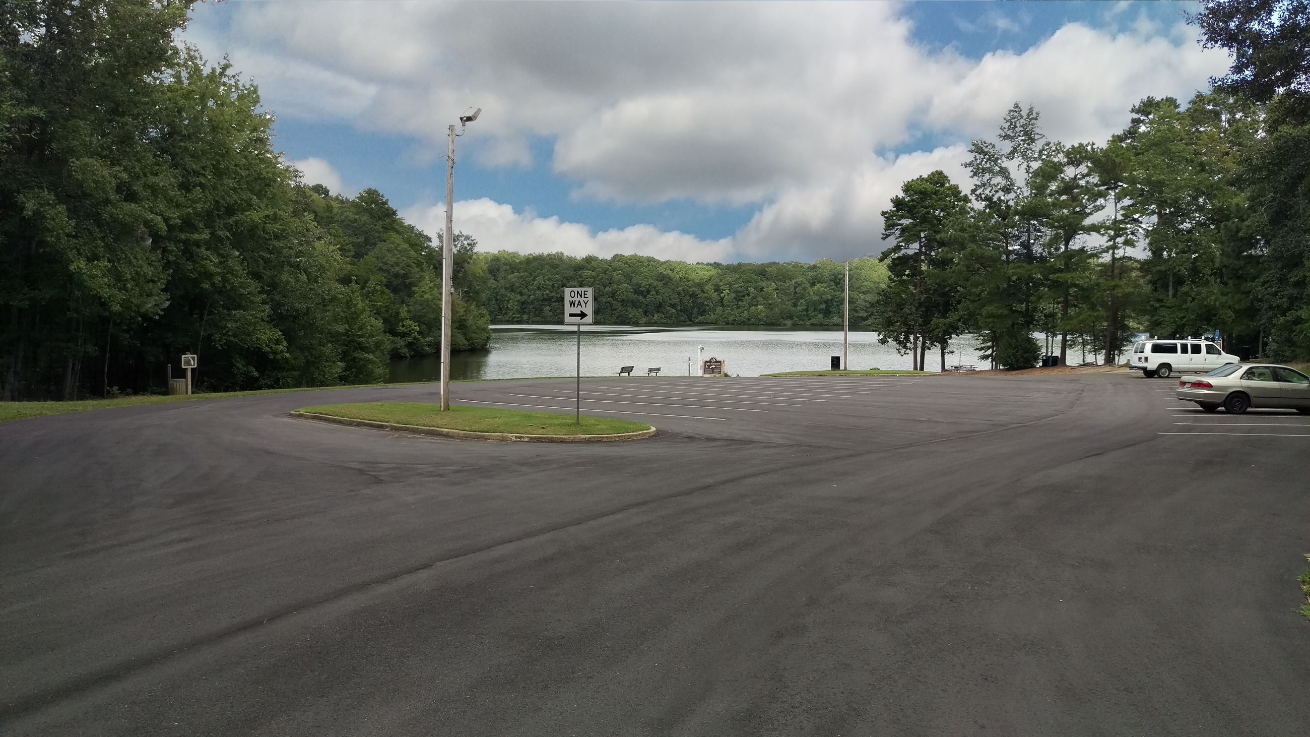 Photo of Parking Lot 12 at the Boat Ramp.