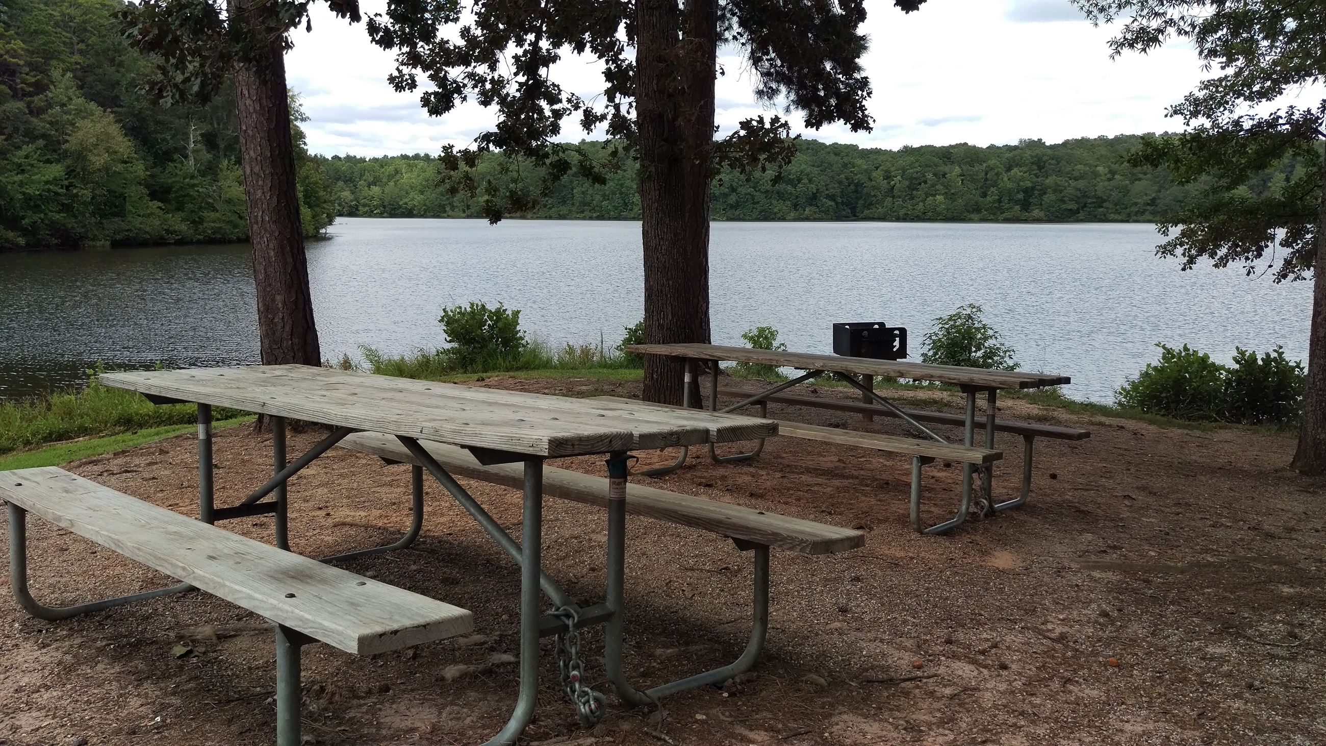 Photo of the Boat Ramp Picnic Area at Sandy Creek Park.
