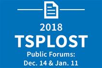TSPLOST Public Forums on Dec 14 and Jan 11