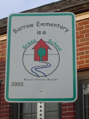 Green School sign