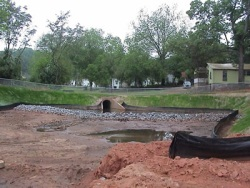 Photo of drainage improvements