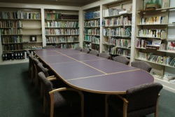 Table in the library resource center