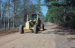 Bulldozer on a dirt road