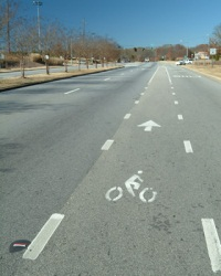 Bike path on College Station Road